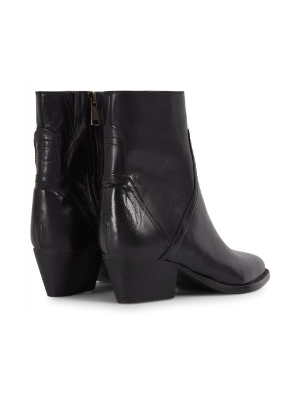 Womens Beryl Black Boot Detail