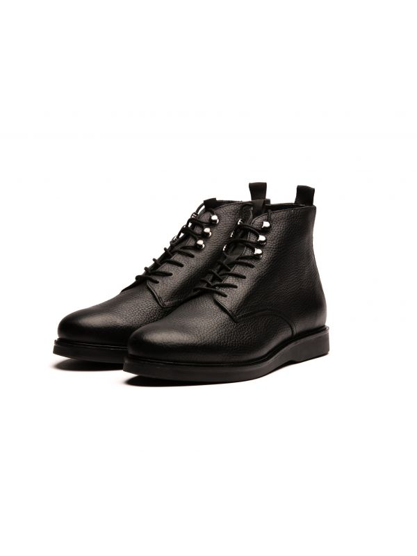 Leather Boot Battle Black
