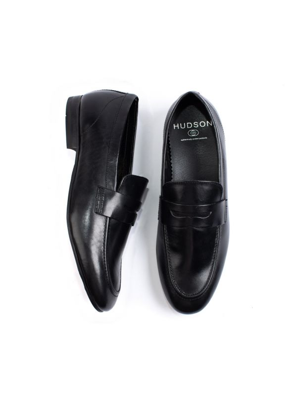 Mens Bolton Black Saddle Loafer Top