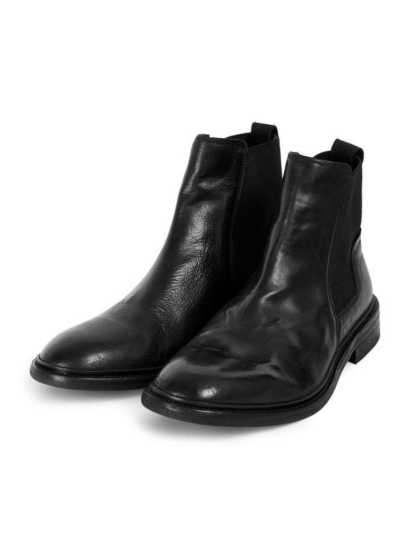 Mens Hoffmann Black Chelsea Boot Three Quarter