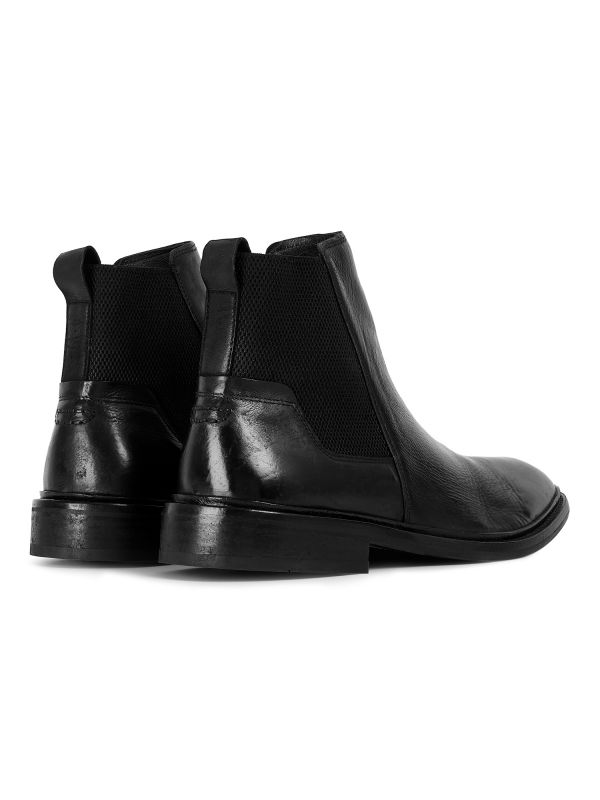 Mens Hoffmann Black Chelsea Boot Detail