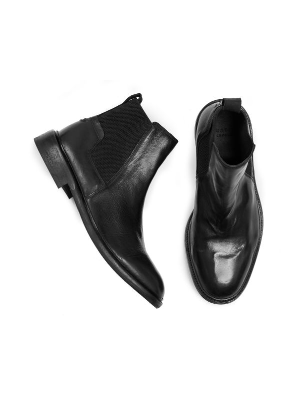 Mens Hoffmann Black Chelsea Boot Top