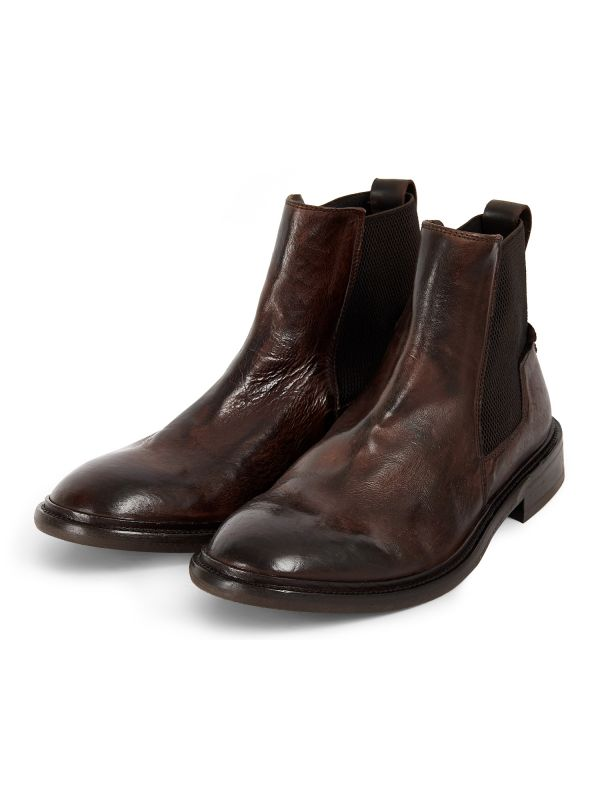 Mens Hoffman Brown Chelsea Boot Three Quarter