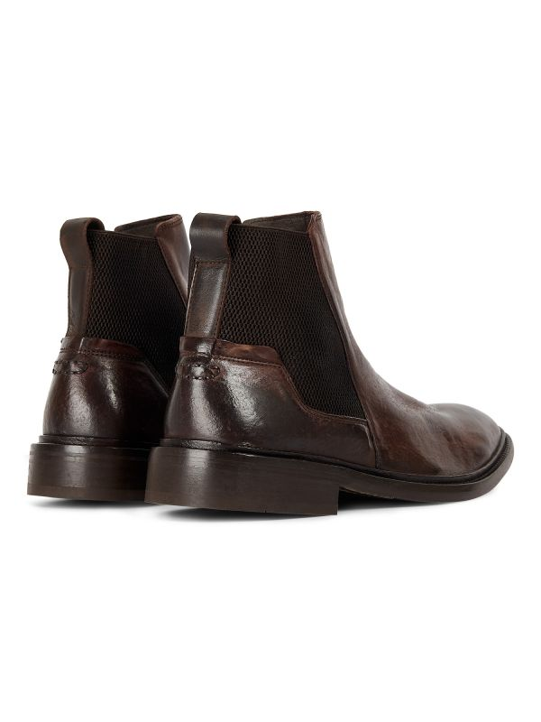Mens Hoffman Brown Chelsea Boot Detail