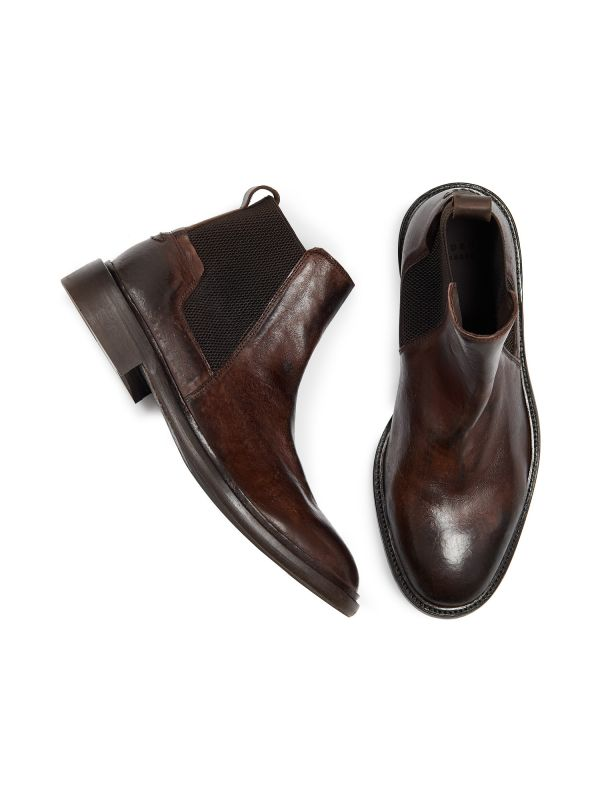 Mens Hoffman Brown Chelsea Boot Top