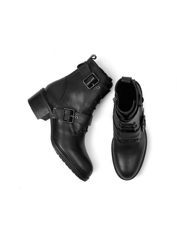 Womens Stanton Black Boot Top