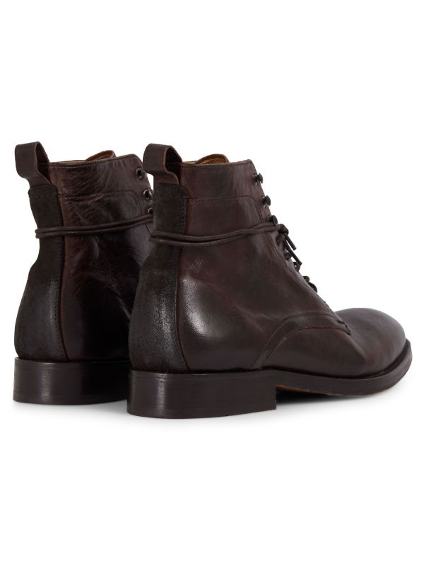 Mens Yew Brown Lace Up Boot Detail
