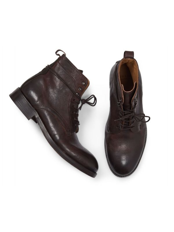 Mens Yew Brown Lace Up Boot Top