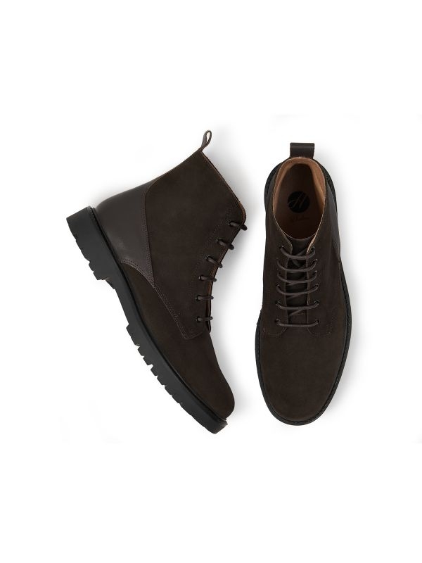 Mens Perry Suede Brown Boot Top