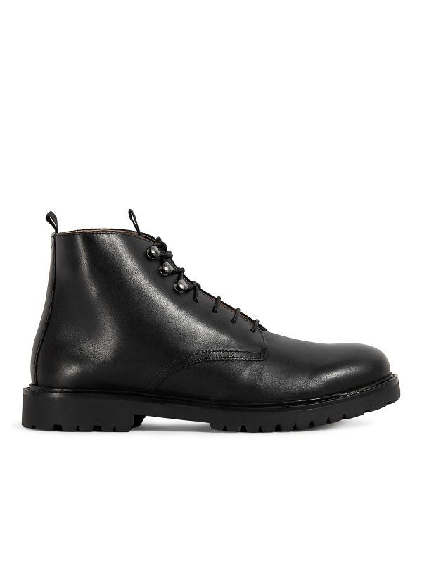 Mens Hastings Black Boot Side
