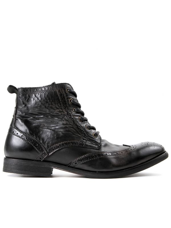 Brogue Boots Simpson Black Side view