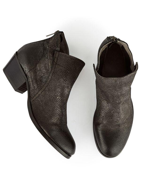 Heeled Boot Apisi Metallic Pewter