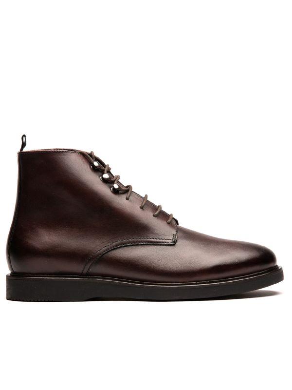 Mens Battle Brown Boot Side
