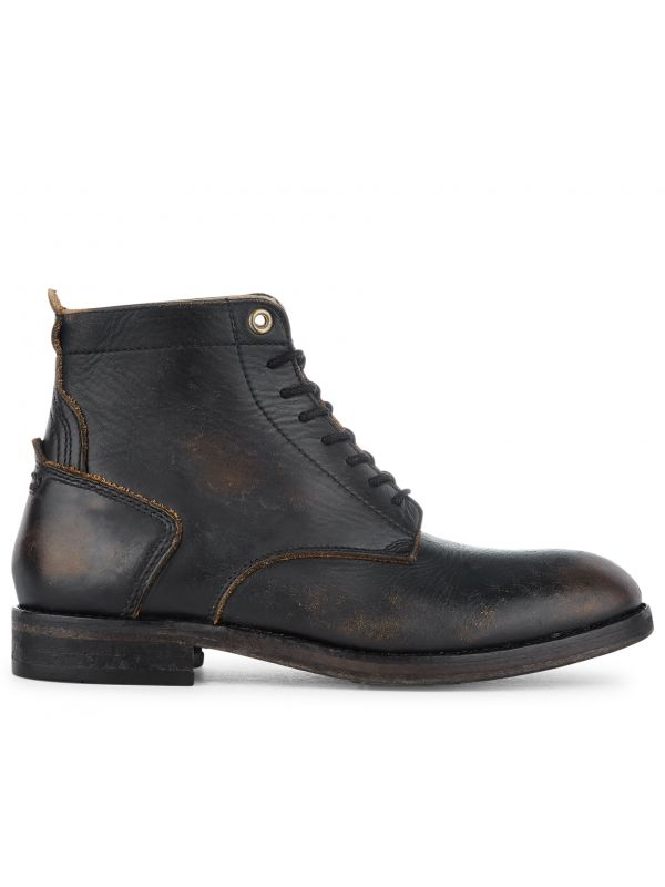 Lace Up Boot Gypsum Black Side