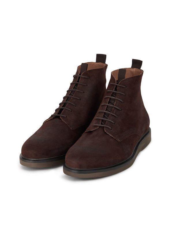 Mens Troy Suede Brown Boot Three Quarter