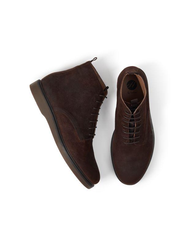 Mens Troy Suede Brown Boot Top