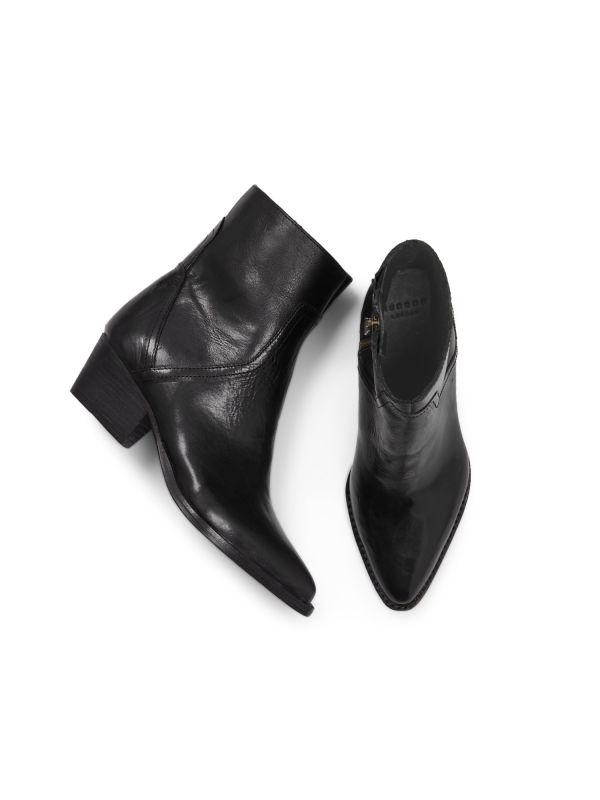 Womens Beryl Black Boot Top
