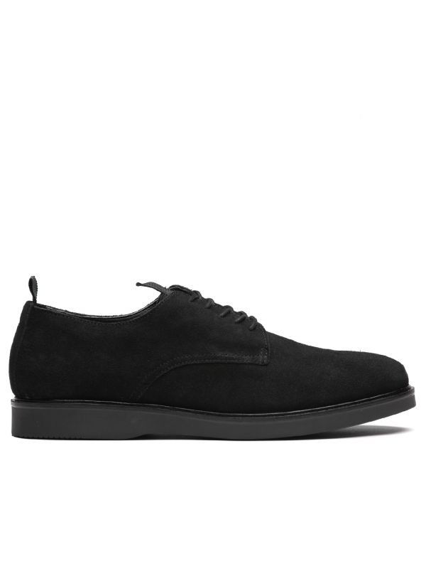 Mens Barnstable Suede Black Shoe Side