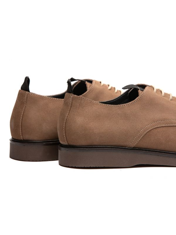 Mens Barnstable Suede Taupe Shoe Detail