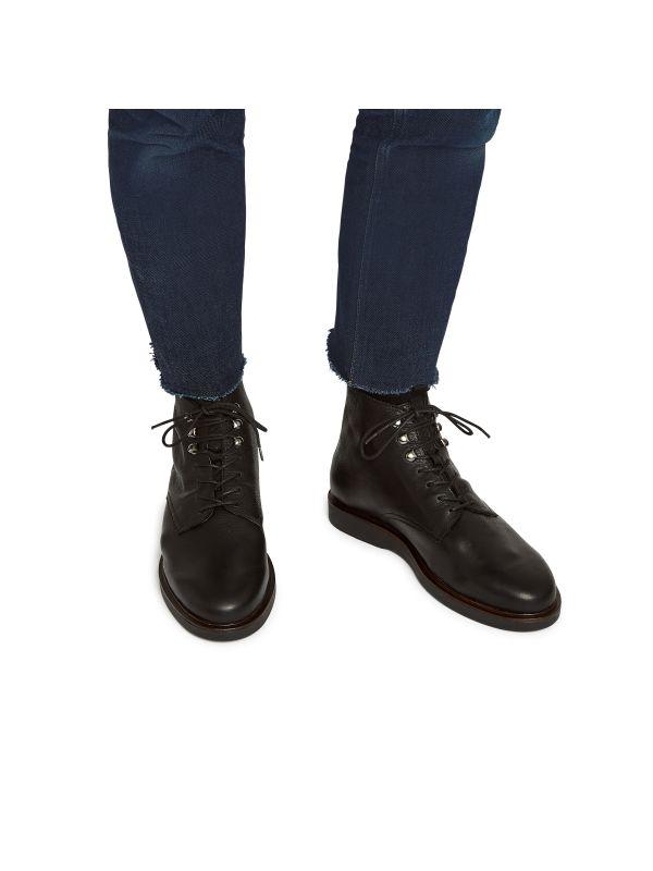 Leather Boot Battle Black