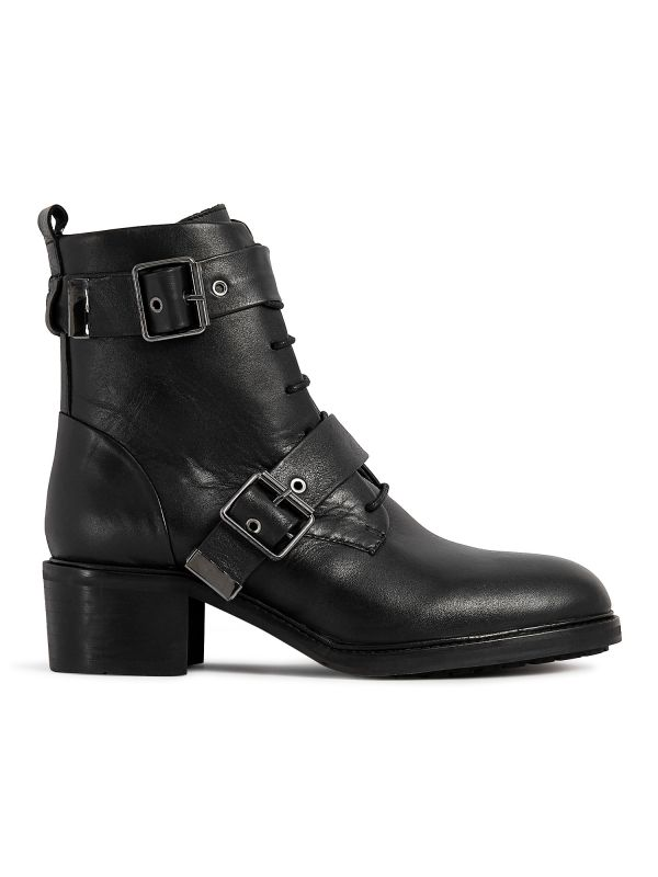 Womens Stanton Black Boot Side