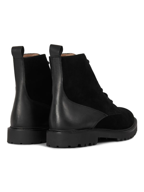 Mens Perry Suede Black Boot Detail