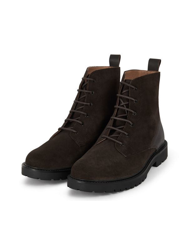 Mens Perry Suede Brown Boot Three quarter
