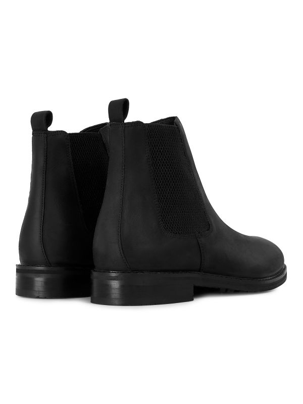 Mens Hewitt Black Chelsea Boot Detail