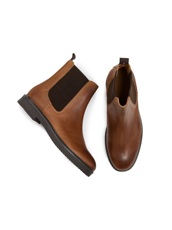 Mens Martell Tan Chelsea Boot Top
