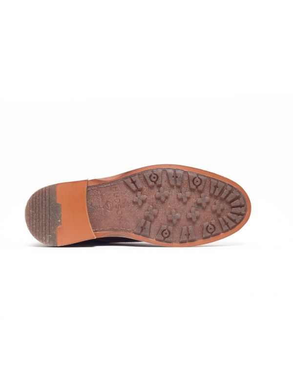 Mens Leland Tan Lace Up Boot Sole