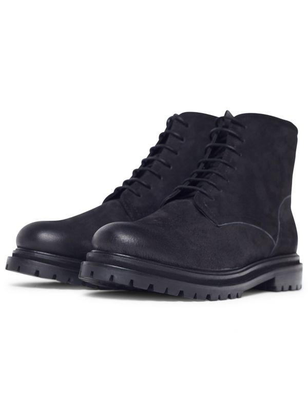 Lingshaw Nubuck Black Boot three quarter
