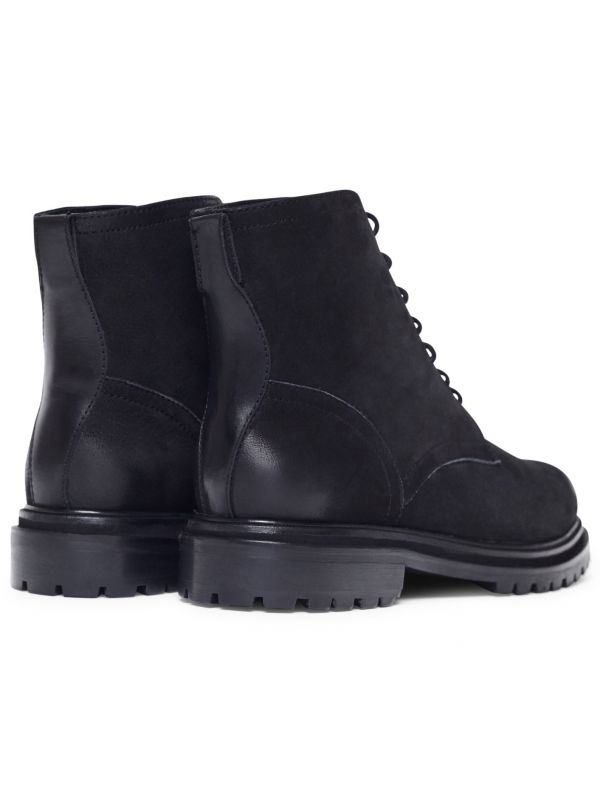 Lingshaw Nubuck Black Boot Detail