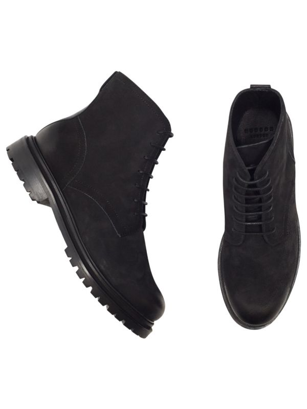 Lingshaw Nubuck Black Boot Top