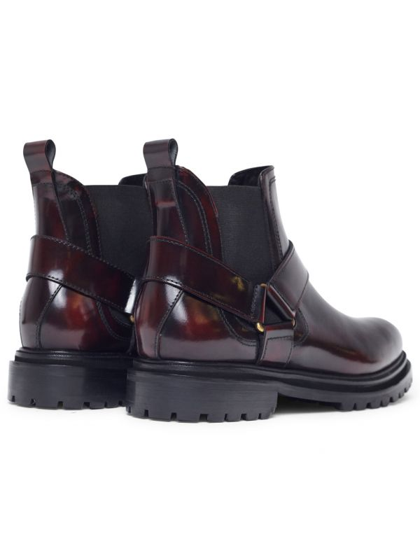 Moss Patent Bordeaux Chelsea Boot Detail