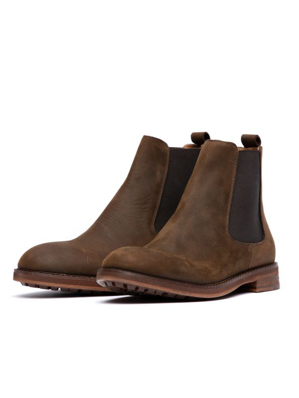 Mens Rowan Brown Chelsea Boot Three quarter