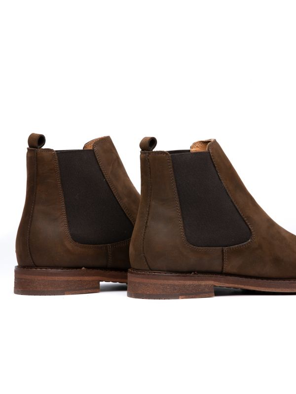 Mens Rowan Brown Chelsea Boot Detail