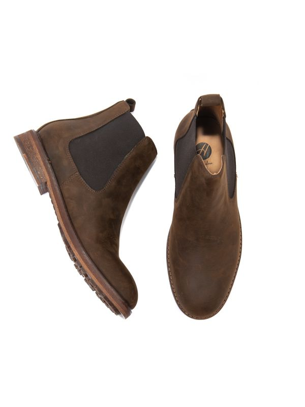 Mens Rowan Brown Chelsea Boot Top