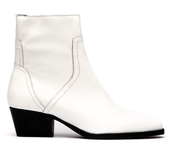 Beryl Tumbled White Boot