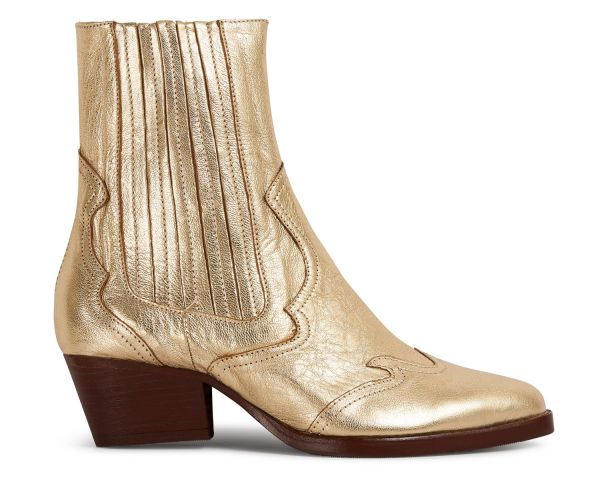 Sienna Gold Chelsea Boot Side
