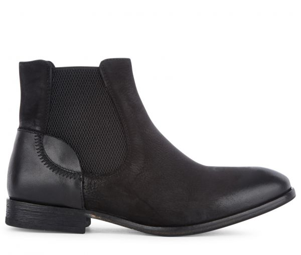 Chelsea Boot Azura Nubuck Black Side View