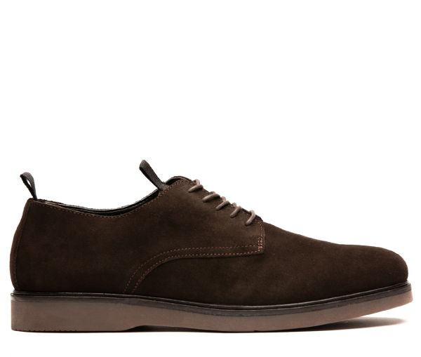 Mens Barnstable Suede Brown Shoe Side