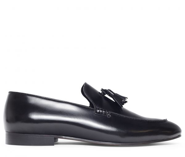 Bolton Hi Shine Black Loafer