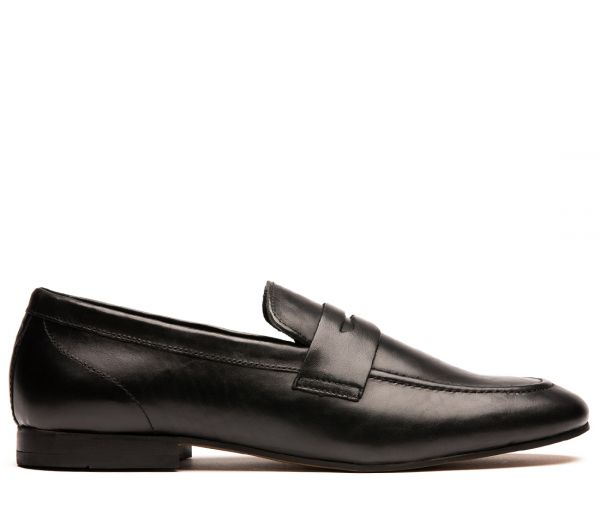 Bolton Black Saddle Loafer