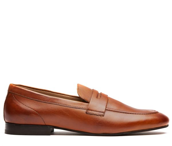 Bolton Tan Saddle Loafer