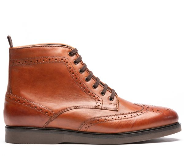 Calverston Tan Brogue Boot