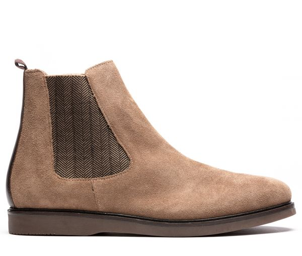 Calverston Suede Taupe Chelsea Boot