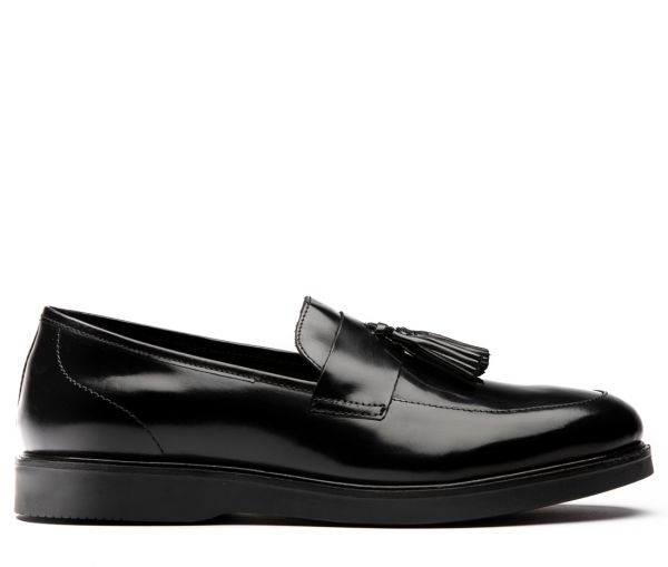 Calverston Hi Shine Black Loafer