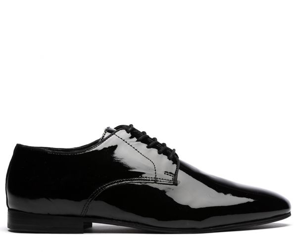 Cato Patent Black Derby Shoe