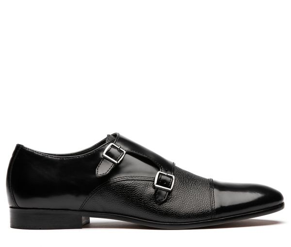 Craigavon Hi Shine Black Monk Shoe