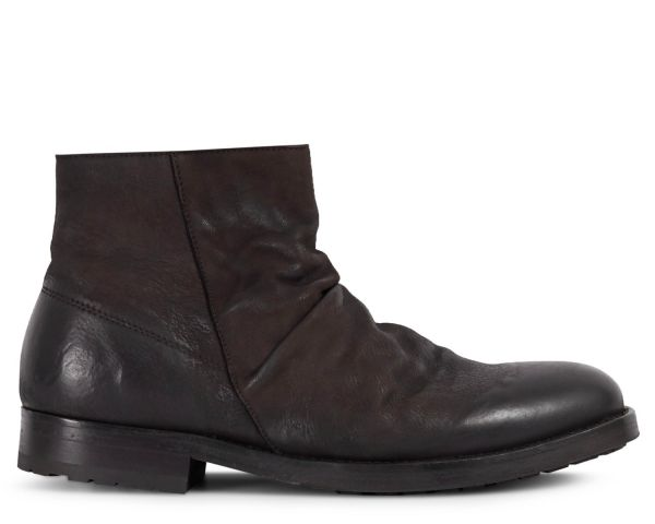 Mens Valo Nubuck Brown Zip Boot Side